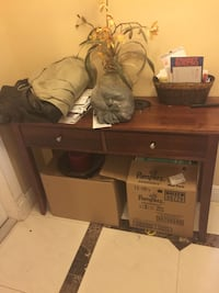 brown wooden 2-drawer nightstand North Miami, 33181