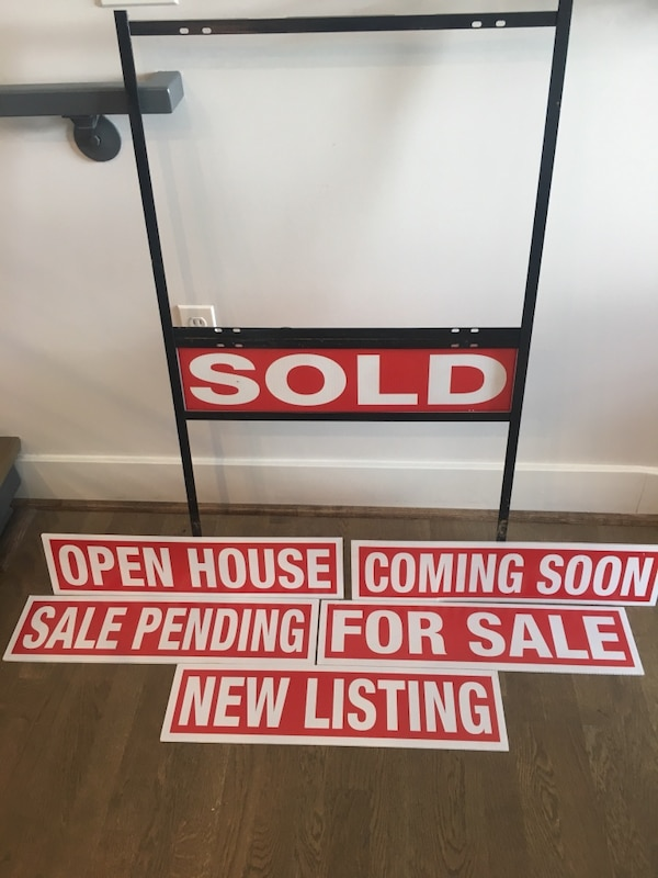 Heavy duty steel real estate signage