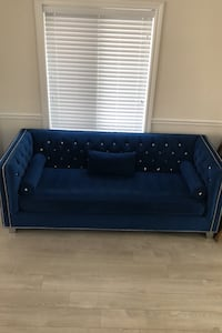 Royal blue sofa