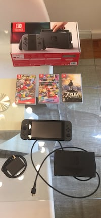 Nintendo Switch including Zelda, Mario Kart Deluxe 8, Super Mario Odyssey, plus memory card Washington, 20008