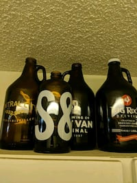 Growlers 3 x 1.89L 1 x 1L Boston round Burnaby, V5E 3A2