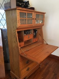 brown wooden cabinet with hutch Texas City, 77590