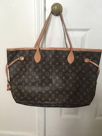 brown monogrammed Louis Vuitton leather tote bag Columbia, 21046