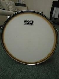 gray steel and white TKO Percussion snare drum Jackson Heights, 11372