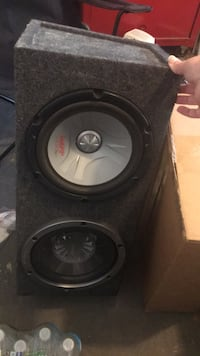 black and gray subwoofer speaker Clifton, 07013