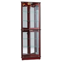 brown wooden framed glass display cabinet Bowie, 20721