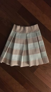 gray and teal stripe mini skirt 49 km