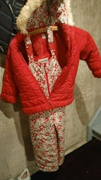 red and white floral jacket and snowpants Waterloo, N2L 2W6