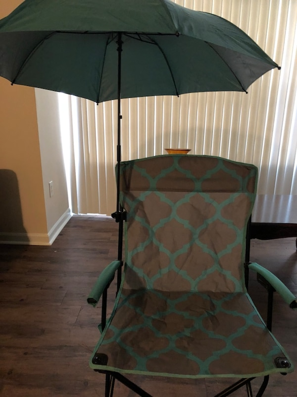 Used Basic Hard Arm Chair With Umbrella Ozark Trail For Sale In