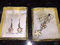 New Pierced Earrings & Necklace Sterling Silver  Des Plaines, 60016