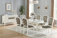 WHITE 7 PCS DINING SET Clifton, 07013