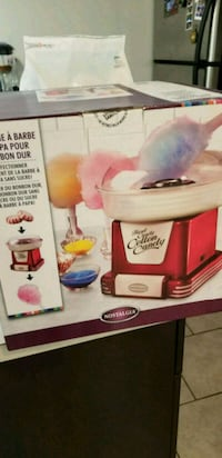 Cotton candy maker with sugars  Edmonton, T5H 0B8