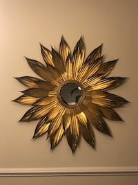 Elegant Golden Sunburst mirror.