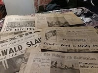 JFK newspapers(1963) Bakersfield, 93308