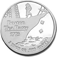 Boston Tea Party one ounce silver coin .9999 pure.  [TL_HIDDEN] 0) available CLARKSVILLE