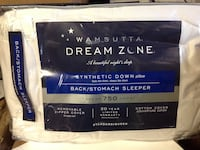 Dream Zone Pillow Wamsutta Back Stomach Sleeper Synthetic Down 750 Thread Count Bloomfield, 07003