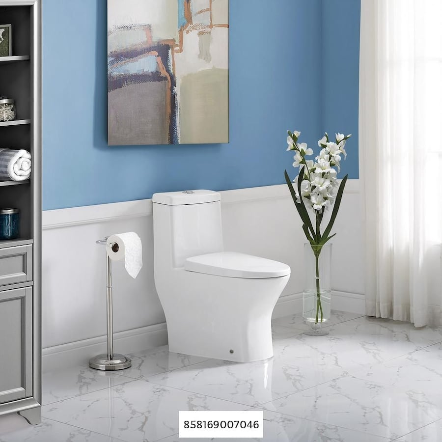 Swiss Madison Sublime 2-piece 0.8 GPF Dual Flush Round Toilet in Glossy White Seat Included a1568145-2581-45fb-91fe-b507fe2c7f57