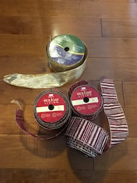 Christmas tree - ribbon red and gold-  150 ft in total Middlesex Centre, N0M