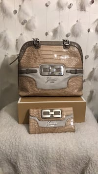 brown and gray leather tote bag Bridgeview, 60455