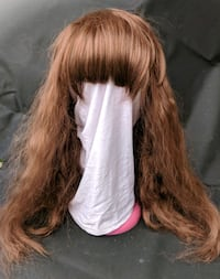 women's white and brown hair wig 50 km