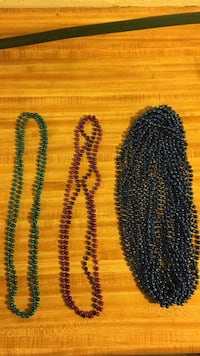 Blue, teal, purple bead necklaces and beaded accessories 823 mi