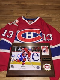 Mike Cammalleri Montreal Canadiens jersey with plaque Hamilton, L0R 1P0
