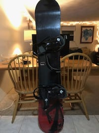K2 Snowboard + Burton Custom Bindings