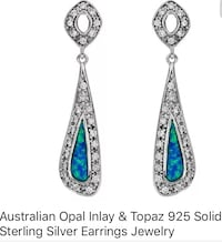925 silver blue fire opal earrings Lexington, 40517