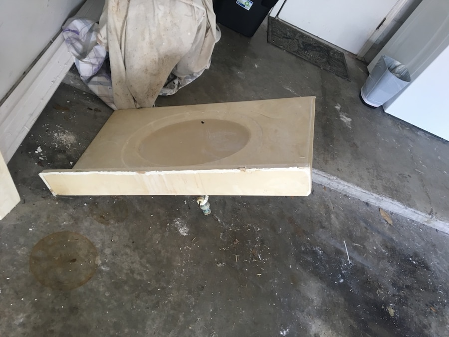 ... Florida Jacksonville NAS Home and Garden Marble Molded Sink Vanity Top