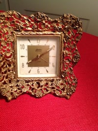 Two Pieces, Bought in Venice, Venetian Glass Decorative Dish & Clock, Gold Plated Saint Petersburg, 33701
