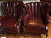 Red Leather HandCarved Chairs 45 km