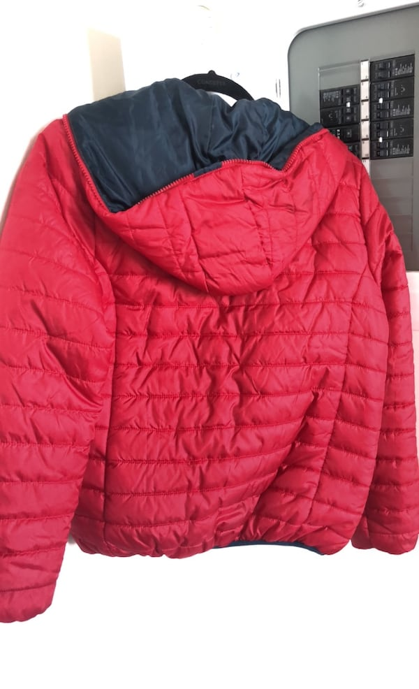 Terranova bright red down feather jacket size 12-13 easily fit an xs 95d80977-75e7-4d8b-895b-932963be5e28