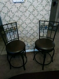 two black metal framed black leather chairs Columbus, 31903