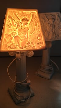 white and yellow Angel desk lamp Plymouth, 02360