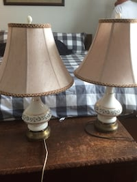 two white-and-brown table lamps Ancaster, L9G 2A3