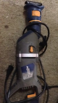 black and blue Bosch corded power tool Calgary, T2G
