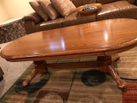 Coffee table, end table, behind the couch table Hanover, 21076