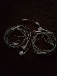 2 sets of iPhone 6 and up headphones w/ adapter