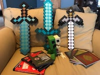 Minecraft weapons, Creeper, and 7 books  Baltimore, 43105