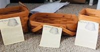 henn wicker baskets brand new all 3 for $20 Inwood, 25428