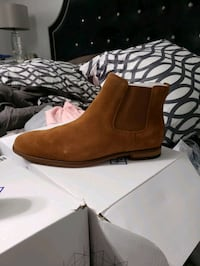 Men's Suede WATER PROOF Cognac Chelsea Boots from (Call It Spring.) Milton