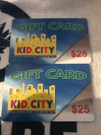 Kid city gift cards Winnipeg, R2P 1T8