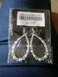 Gala Go-Getter White Earrings Asheville, 28801
