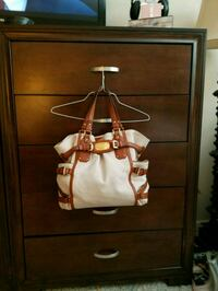 brown and white leather tote bag Irmo, 29063