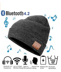 black and brown knit cap 553 km