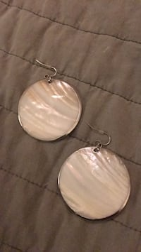 Large shell statement earrings