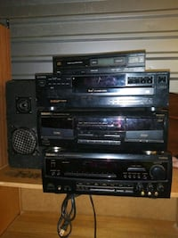 Rare Techwood Stereo Reciever Tape CD Record Players