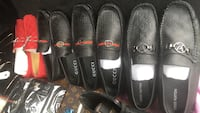 three pairs of black leather shoes Kitchener, N2E 4J5