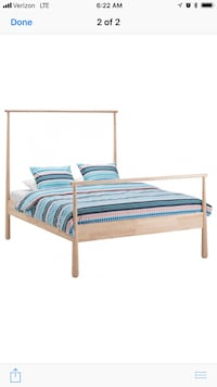 white and blue striped bed sheet Dallas, 75235