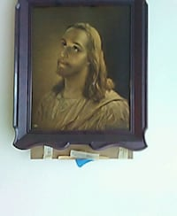 Jesus Christ painting with brown wooden frame Ashland, 41101